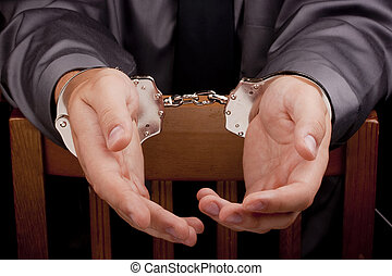 Arrested in handcuffs - Arrest, arrested a man in handcuffs...