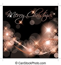 Dark Christmas background / card with snowflakes