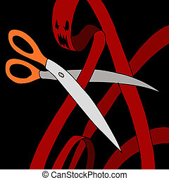 Cutting Through Red Tape - An image of a scissors cutting...