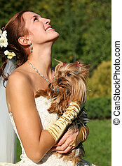 Beautiful bride - The laughing bride with the yorkshire...