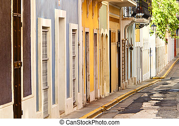 row houses in san juan - colorful row houses in san juan...
