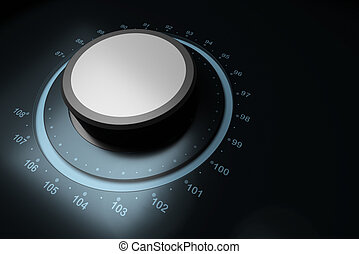 FM button - fm button over a blue background with...