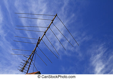 An Outdoor Over The Air Antenna - An outdoor over-the-air...
