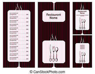 Menu Card Template - illustration of set of menu card...