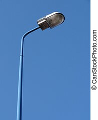 Street lamp on a blue background
