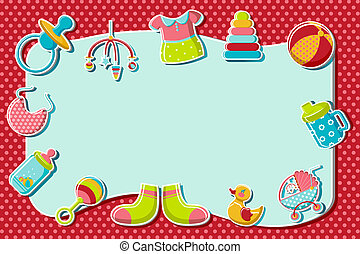 Baby Wallpaper - illustration of set of item related to baby...