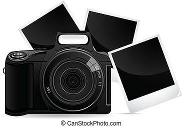 Camera with Photograph