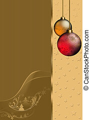 Christmastime - Christmas background with Christmas balls