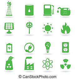 Eco and environment icons - Ecology and green environment...