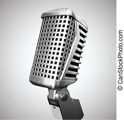 Classic Microphone. Vector - classic microphone