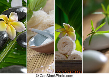 spa fragments - Close up view of spa theme objects on...