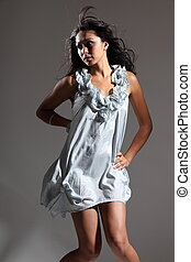 Girl in short dress