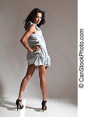 Long legs sexy fashion girl - Sexy young fashion model girl...