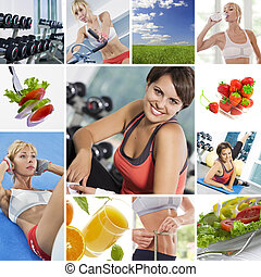 neznayu - Healthy lifestyle theme collage composed of...
