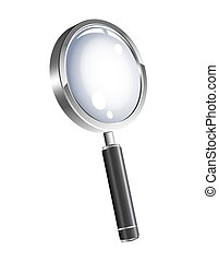 Magnification glass - An illustration of 3d magnification...