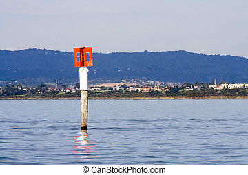 Red Port Hand Marker Pole