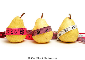 Weightloss Stages - Three pears represent the stages of...