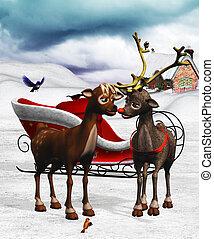 rudolphs love - Rudolph the reindeer with his great love