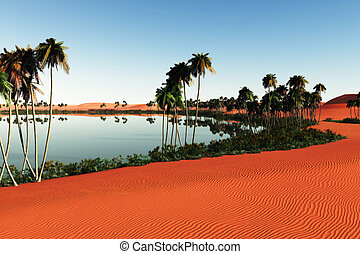 Sahara - Landscape picture of a beautiful Sahara with a...