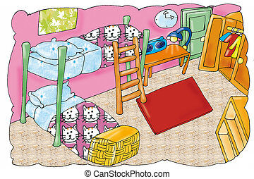 orderly room - orderly room, with bunk beds