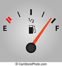 Gas Gage - Image of a gas gage on a gray background.