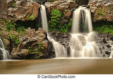 Seven Sacred Pools in Hana, Maui, Hawaii. Beautiful long...