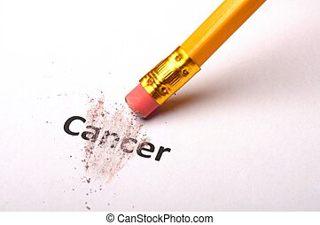 cancer and eraser showing health or medical concept