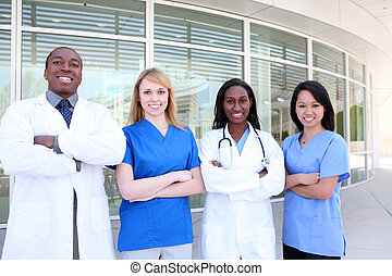 Diverse Attractive Medical Team - A diverse attractive man...
