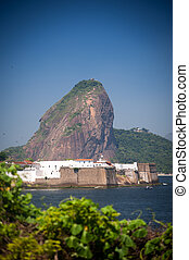 Santa Cruz Fortress - View of the sugarloaf in Rio de...