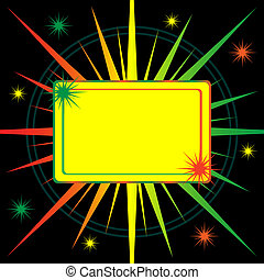 Bright starburst abstract background - Star burst in shades...