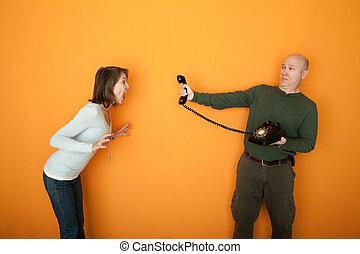 Angry Woman Yells At a Phone
