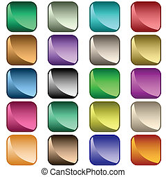 Web buttons assorted colors