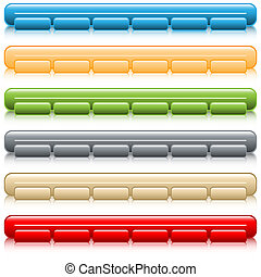 Web button navigation bars