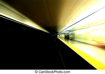Subway ride. - Timelapse shot from the front of a subway...