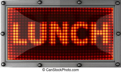 lunch announcement on the LED - lunch announcement on the...