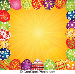 Easter eggs - background with Easter eggs