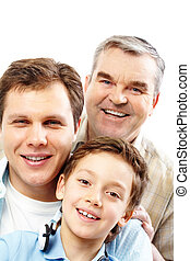 Family of men - Portrait of a father, grandfather and son