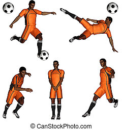 soccer player - a soccer player and his tricks - isolated on...