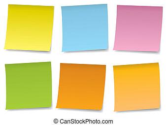 adhesive notes vector set
