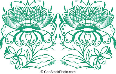classic orante flower element design