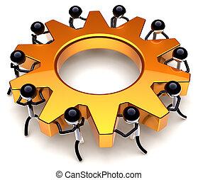 Teamwork business process - Teamwork process. Business...