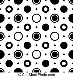 Seamless geometric pattern - Seamless black and white...