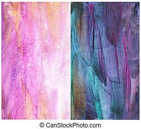 Beautiful watercolor background in soft purple, pink and green