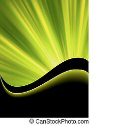 Bright blast of light on green tone EPS 8 - Bright blast of...