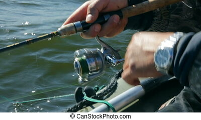 fishing with spinning - close-up