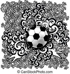 abstract soccer vector