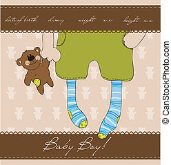 Baby Boy arrival announcement card