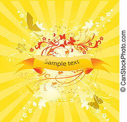 Vector abstract sunny banner