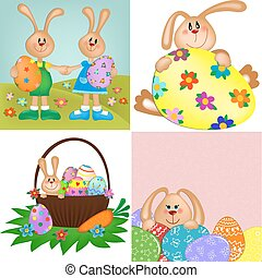 Templates for easter greetings card