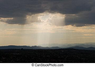 Shaft of Sunlight Jemez Mountains Santa Fe NM - Shaft of...